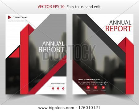 Red Triangle Brochure annual report Leaflet Flyer template design book cover layout design abstract business presentation template a4 size design