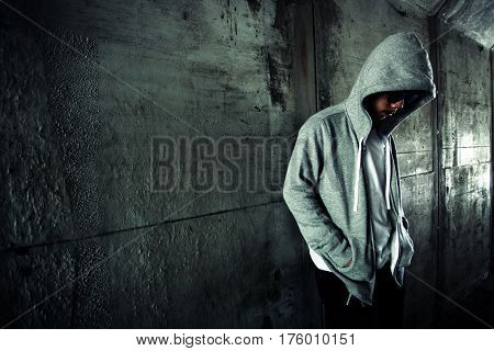 Social Issues,Stranger or homeless person in tunnel