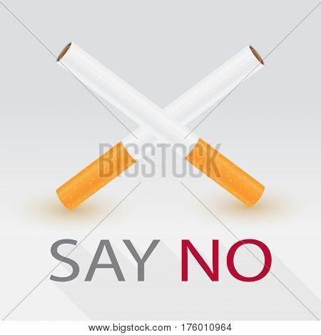 Say no to cigarette concept vector illustration