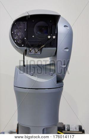 Video surveillance camera with robotic control, close up