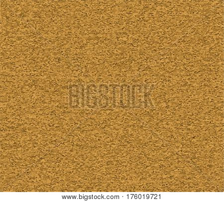 Cork board vector texture seamless pattern. Realistic illustration of horizontal brown corkboard background