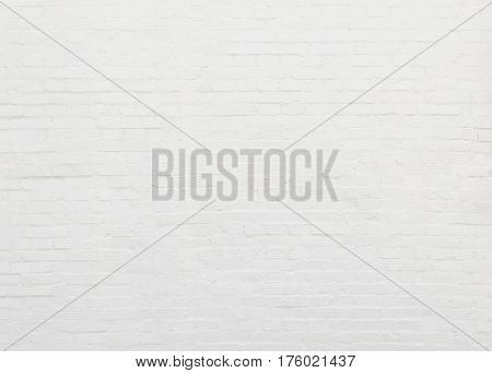 White brick wall texture and background