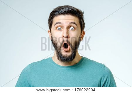 Man With Shocked, Amazed Expression