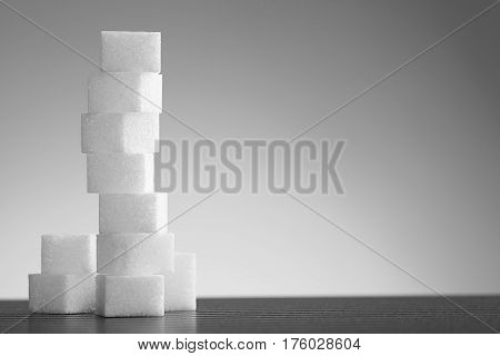 Pile Of Lump Sugar On White Background