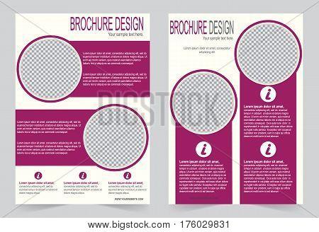Brochure template Flyer design burgundy color template