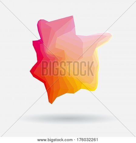 rosy and red abstract colorful mosaic background vector illustration. polygon business style design element for backdrop, header, cover, flayer