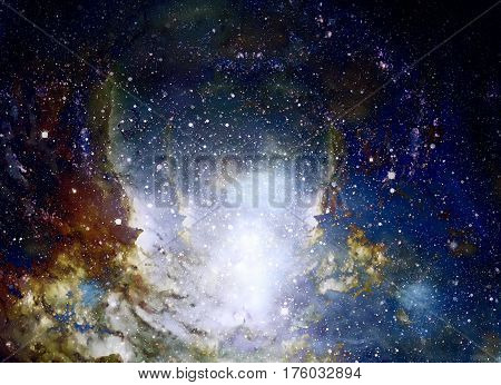 Cosmic space and stars, color cosmic abstract background