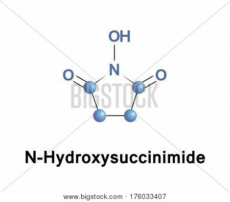 N Hydroxysuccinimide is an organic compound with the formula C4H5NO3. Being slightly acidic, it is an irritant to skin, eyes and mucous membranes