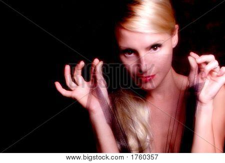 Blonde With Black Veil