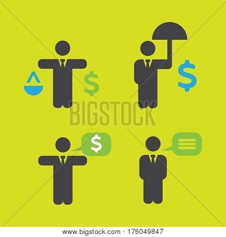 Business Policies Icons vector illustration flat style
