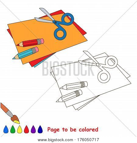 Applique to be colored, the coloring book to educate preschool kids with easy kid educational gaming and primary education of simple game level.