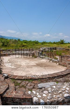 Ancient Greek palaestra in Dion, Pieria, Greece