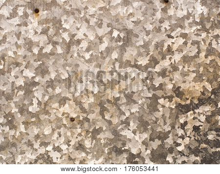 Close Up On Zinc Plate Camouflage Texture Background