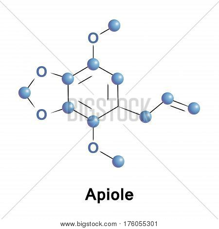 Apiole is phenylpropene, also known as apiol, parsley apiol or parsley camphor. Its chemical name is allyl dimethoxy methylenedioxybenzene. It is found in the essential oils of celery leaf and parsley