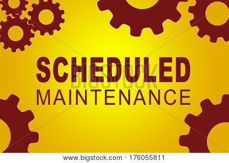 Scheduled Maintenance Concept