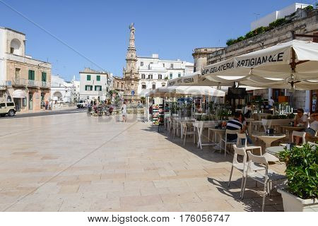 Ostuni The White Town Of Puglia On South Italy