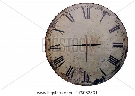 Antique of clock on a white background