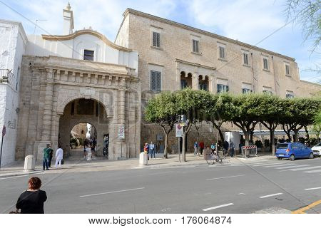 The Central Square Of Polignano A Mare