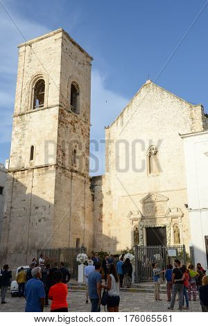 The Church At Polignano A Mare In Puglia, Italy