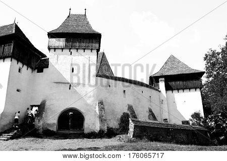 Fortified medieval saxon church in Viscri, Transylvania, Romania