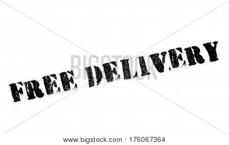 Free delivery stamp. Grunge design with dust scratches. Effects can be easily removed for a clean, crisp look. Color is easily changed.