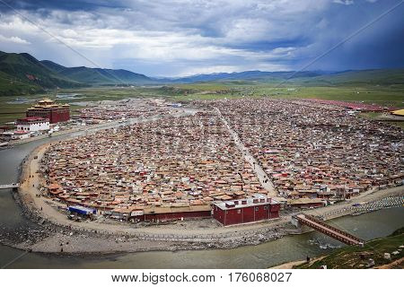 Yarchen Gar Monastery In Sichuan, China