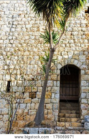 Remnants of Crusader castle in Israel. The Yehiam Fortress National Park of Israel