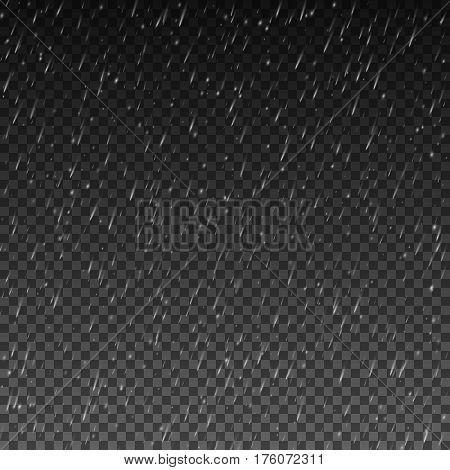 Rain texture, Rainy weather, Vector background EPS10