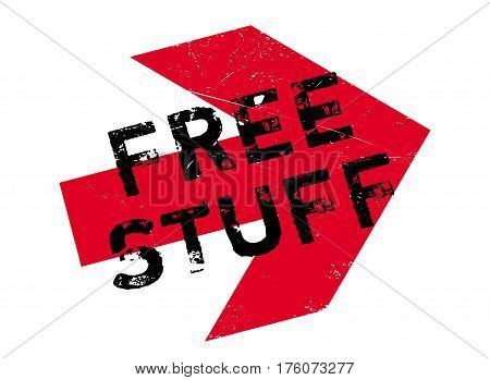Free stuff stamp. Grunge design with dust scratches. Effects can be easily removed for a clean, crisp look. Color is easily changed.