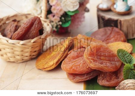 Dried apricots and mix dried fruit delicious
