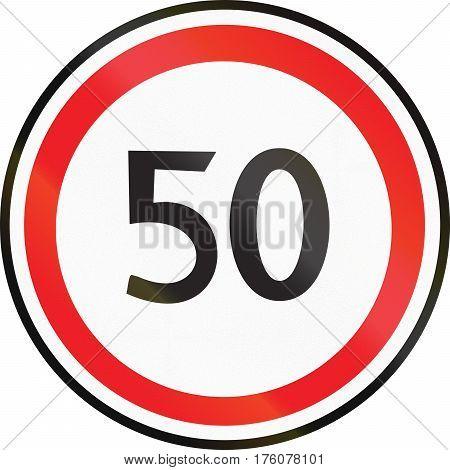 Belarusian Regulatory Road Sign - Maximum Speed Limit