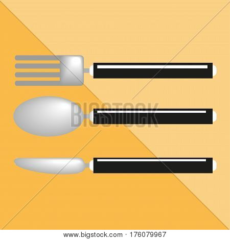 Cutlery. Kitchen utensils and equipment icon. Various cooking utensils and crockery. Conditional color image.