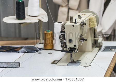 The Abandoned textile factory - sewing machines