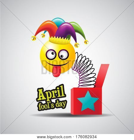 April fool's day Typography Colorful vector illustration.