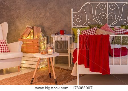 Stylish Bedroom With Candles