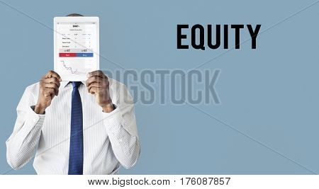 Financial forex business chart report