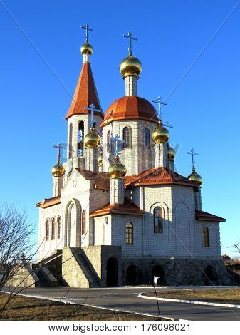 The (Russian Orthodox) Church of the Holy Transfiguration in Kremenchuk, Ukraine