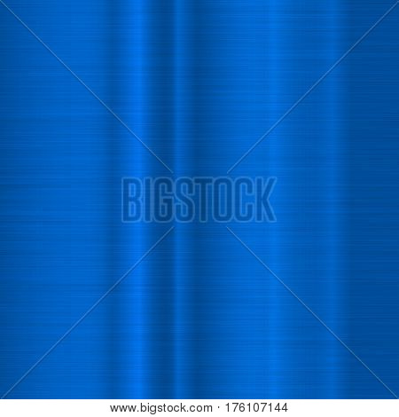 Blue metal technology background with abstract polished, brushed texture, chrome, silver, steel, aluminum for design concepts, wallpapers, web, prints, posters, interfaces. Vector illustration.