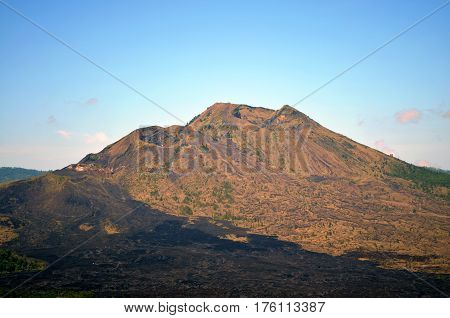 old sleeping volcano and the burnt earth around after the eruption.