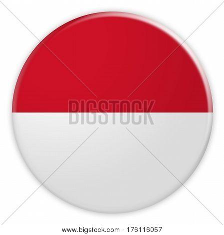 Monaco Flag Button News Concept Badge 3d illustration on white background