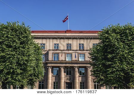 Building of Cabinet of Ministers and Supreme Court in Riga Latvia