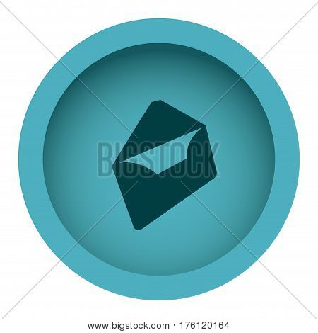 blue circular framewith silhouette envelopes openend vector illustration