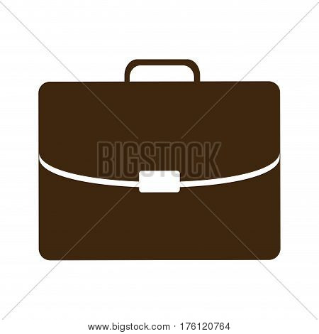 silhouette briefcase executive icon flat vector illustration