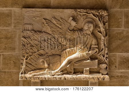 Details of basilica san marino fresco san marino