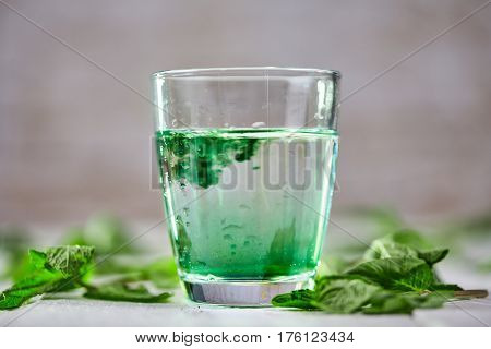 Chlorophyll Detox Drink With Green Mint