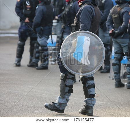 Police In Riot Gear During The Anti-terrorism Control