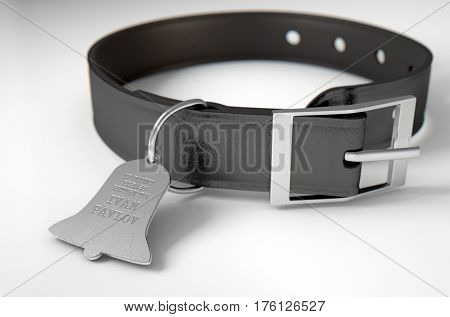 Leather Collar With Tag