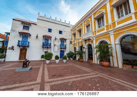 San Pedro Claver Plaza In Cartagena