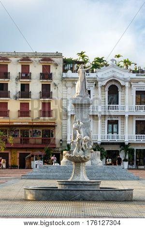 Getsemani Neighborhood In Cartagena, Colombia