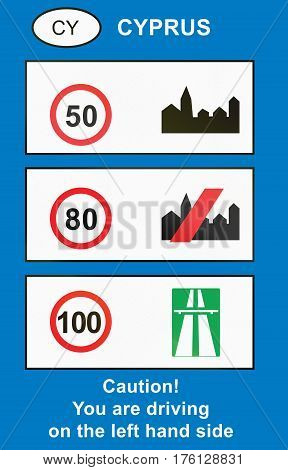 Overview Of Speed Limits Used In Cyprus